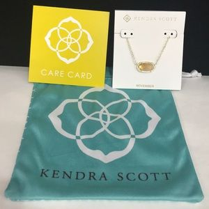 NWT. Kendra Scott Elisa necklace. November stone.